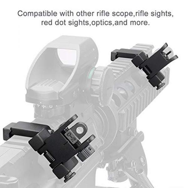 Marmot Airsoft Gun Sight 6 Marmot 45 Degree Offset Flip Up Sight Low Profile Rapid Transition Front & Rear Iron Sights
