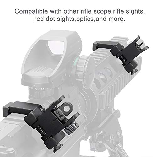 Marmot Airsoft Gun Sight 6 Marmot 45 Degree Offset Flip Up Sight Low Profile Rapid Transition Front & Rear Iron Sights