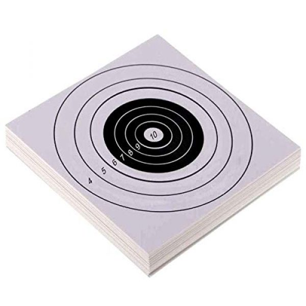YouOK Airsoft Target 1 YouOK Air Shot Paper Targets - 8.5 by 8.7 - Fits Gamo Cone Traps and Metal Box BB Catcher Target Holder Pellet Trap for Air Rifle/Airsoft Pistol (White)