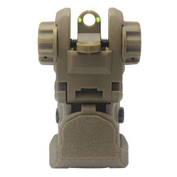 AWOTAC Airsoft Gun Sight 5 AWOTAC Polymer Fiber Optics Iron Sights Flip-up Front and Rear Sights with Red and Green Dots Fit Picatinny Weaver Rails