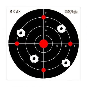 MEMX Airsoft Target 1 MEMX Reactive Target Stickers - 10 inch Self Adhesive Shooting Targets - High Visibility Impact - Gun Targets for Rifle - Pistol - Airsoft - BB Gun - Pellet Gun - Air Rifle