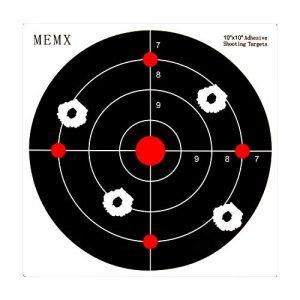 MEMX Airsoft Target 1 MEMX Reactive Target Stickers - 10 inch Self Adhesive Shooting Targets - High Visibility Impact - Gun Targets for Rifle - Pistol - Airsoft - BB Gun - Pellet Gun - Air Rifle