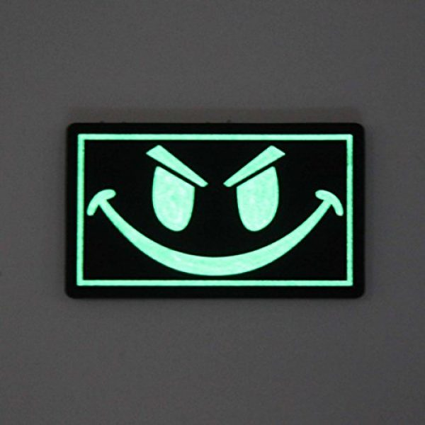NEO Tactical Gear Airsoft Morale Patch 3 The Original Glow in The Dark Smiley Face PVC Rubber Morale Patch - Crossfit Patch by NEO Tactical Gear Morale Patch