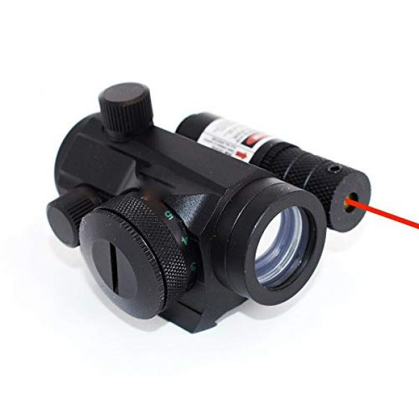 Sniper Airsoft Gun Sight 1 Sniper RD20LR Holographic Reflex Sight with Red Laser 5 MOA Red Dot Fit 20mm Picatinny Rail