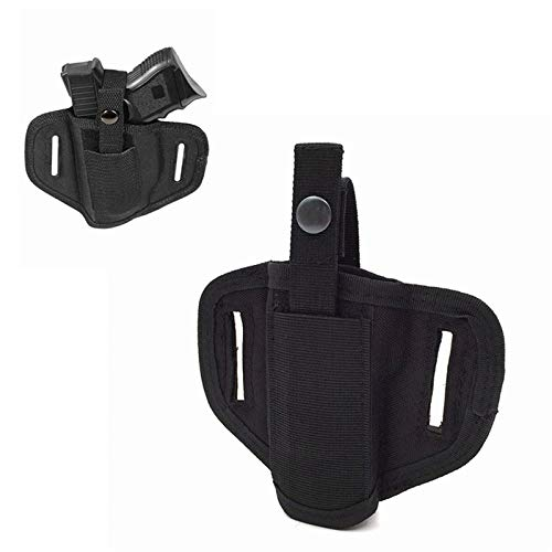 FIRECLUB  2 FIRECLUB Tactical Molle 6 Position Ambidextrous Concealment Holster for Compact Subcompact Waist Handguns Concealed Belt Holster for Right Left Hand Draw Black
