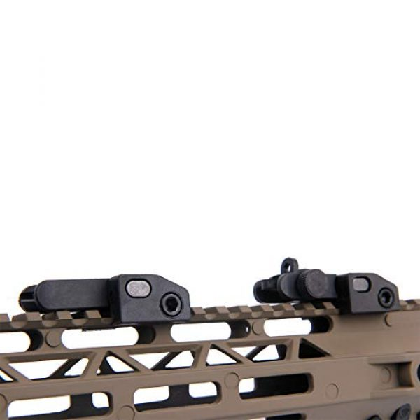 Fidragon Airsoft Gun Sight 6 Fidragon Ultralight Flip Up Backup Battle Sight Offset Rapid Transition Front and Backup Rear Sight for Picatinny Mount
