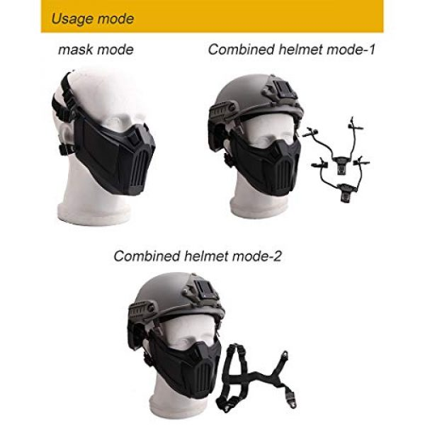 Fansport Airsoft Mask 5 Fansport Airsoft Mask Creative Protective Half Face Mask Outdoor Game Mask Costume Mask Outdoor Sports Masks