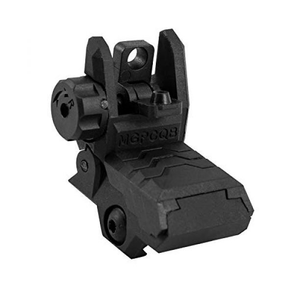GVN Airsoft Gun Sight 2 GVN Flip up Battle Iron Sights Front and Rear Sights For Picatinny Rail