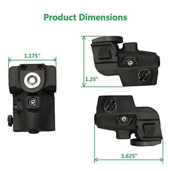 Compact Green Dot Laser Sight Pistol Low Profile Picatinny Rail Mount Adjustable
