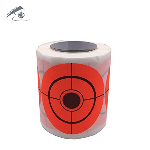 Target House Airsoft Target 3 250 Pack Diameter 6.5 cm Self Adhesive Target Stickers for Shooting