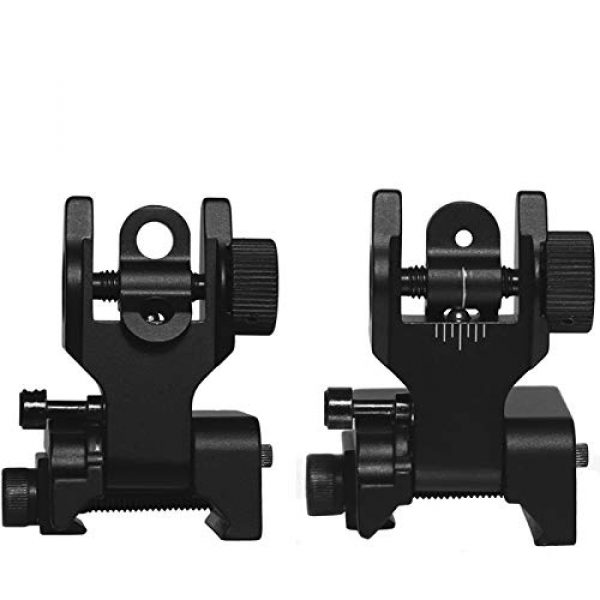 Shot and Pellet Gun Front and Rear Iron Sight Flip Up Iron Sights for Picatinny Rails