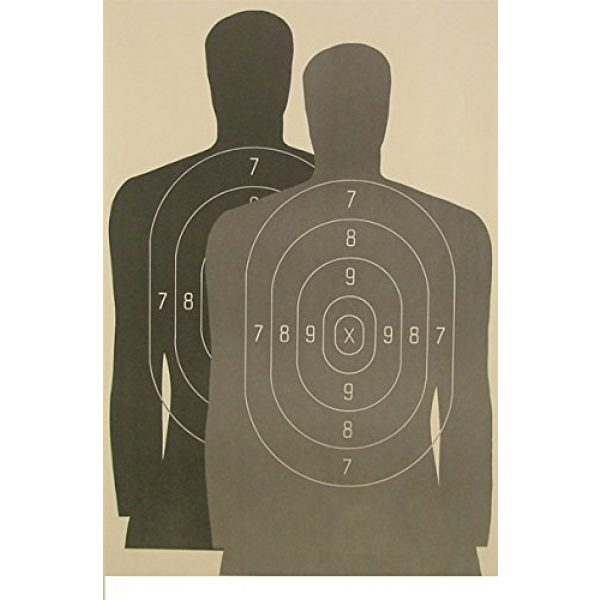 """American Target Company Airsoft Target 1 Law Enforcement Hostage Target 23""""x35"""" (25 Pack)"""