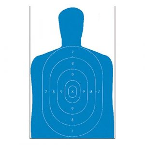ACTION TARGETS Airsoft Target 1 ACTION TARGETS B-27E Blue ECON BLU SIL TRGT 100 Pack