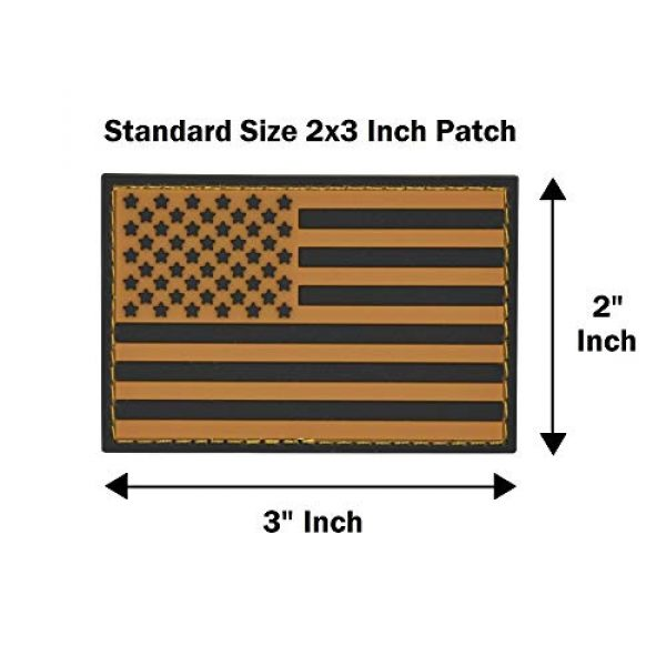 Great 1 Products Airsoft Patch 5 Great 1 Products American Flag Patch Set, 2x3 inch, PVC with Velcro Backing, Hook and Loop, Military and Tactical Accessory for Clothing-Jackets-Hats-Backpacks (Earth Tone Flags)
