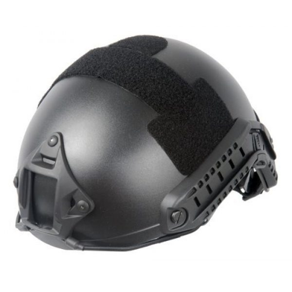 Lancer Tactical Airsoft Helmet 1 Lancer Tactical CA-739 Fast Ballistic Basic Safety Airsoft Helmet w/Integrated NVG Mount