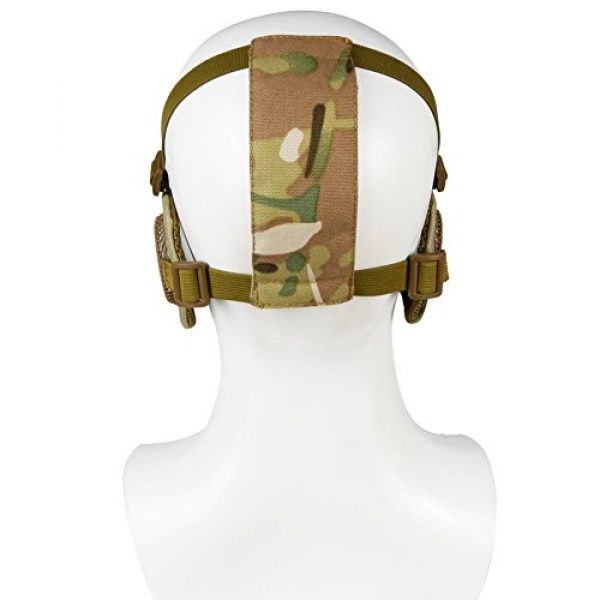 Nylon Military Tactical Half Face Mesh Masks with Ear Cover Protection Adjustable CS Protective Lower Guardfor Mask CS Hunting Paintball Shooting