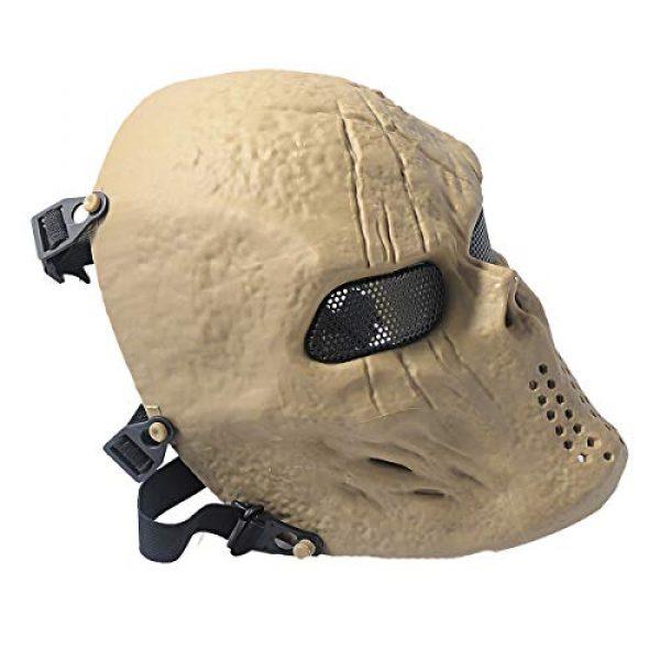 Outgeek Airsoft Mask 3 Outgeek Airsoft Mask Scary Skull Outdoor Full Face Mask Mesh Eye Protection Mask