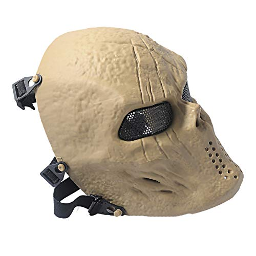 Outgeek Airsoft Mask 3 Outgeek Airsoft Mask Scary Skull Outdoor Full Face Mask Mesh Eye Protection Mask