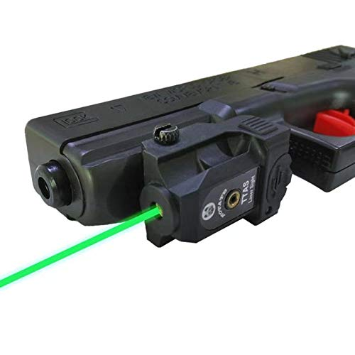 Compact Laser Sight Fits Gun of Standard Picatinny Rail Low Profile Pistol Green Dot Sight Rechargeable Handgun Laser Tactical Sights Airsoft Laser Pointer Pistol