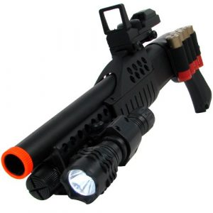 TM GLOBAL  1 airsoft m180a2 pump action shot gun with light(Airsoft Gun)