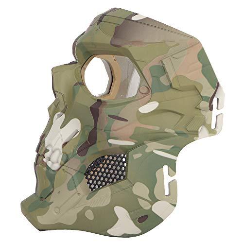 NINAT Airsoft Mask 3 NINAT Airsoft Masks Full Face Skull Tactical Mask with PC Lens Eye Protection for CS Survival Games BBS Gun Shooting Halloween Cosplay Movie Props Scary Masks