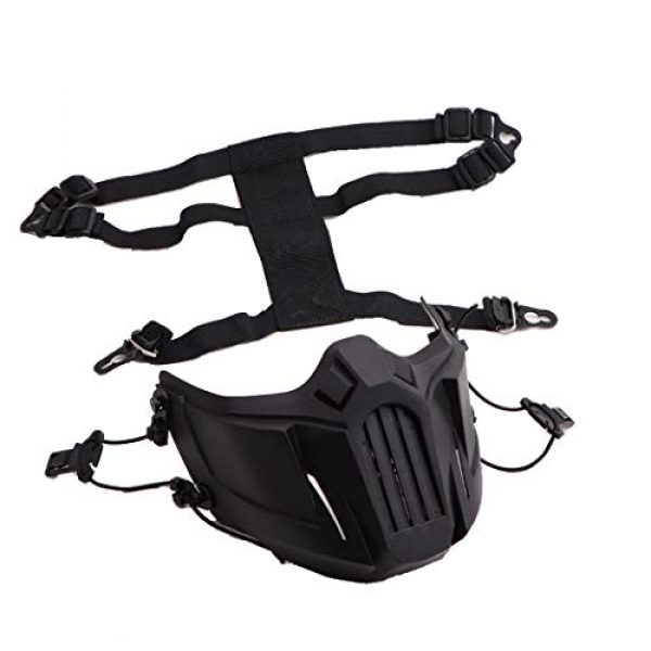 Fansport Airsoft Mask 4 Fansport Airsoft Mask Creative Protective Half Face Mask Outdoor Game Mask Costume Mask Outdoor Sports Masks