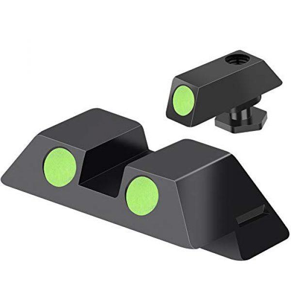 Feyachi Airsoft Gun Sight 1 Feyachi NS16 Night Sights Glow in The Dark for Glock Pistol 17 17L 19 26 27 33 34 38 39