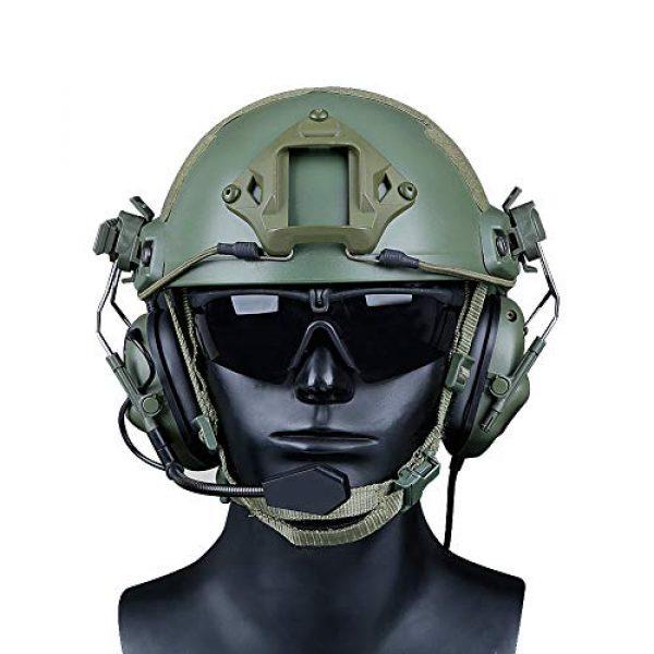 ATAIRSOFT Airsoft Helmet 4 ATAIRSOFT Tactical Headset war Unlimited Power intercom with Microphone Waterproof Headphones