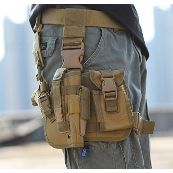 ESA Supplies  7 ESA Supplies Molle Airsoft Holster with Magzine Pouch Drop Leg Holsters Tactical Thigh Holsters for Glorck G17 G18 G19 G26 G34 M1911