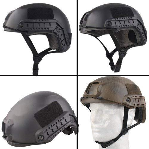iMeshbean Airsoft Helmet 3 iMeshbean Airsoft Swat Helmet Combat Fast Helmet with Wing-Loc Adapter