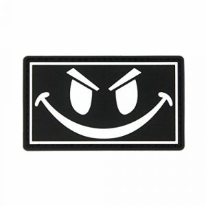 NEO Tactical Gear Airsoft Patch 1 The Original Glow in The Dark Smiley Face PVC Rubber Morale Patch - Crossfit Patch by NEO Tactical Gear Morale Patch