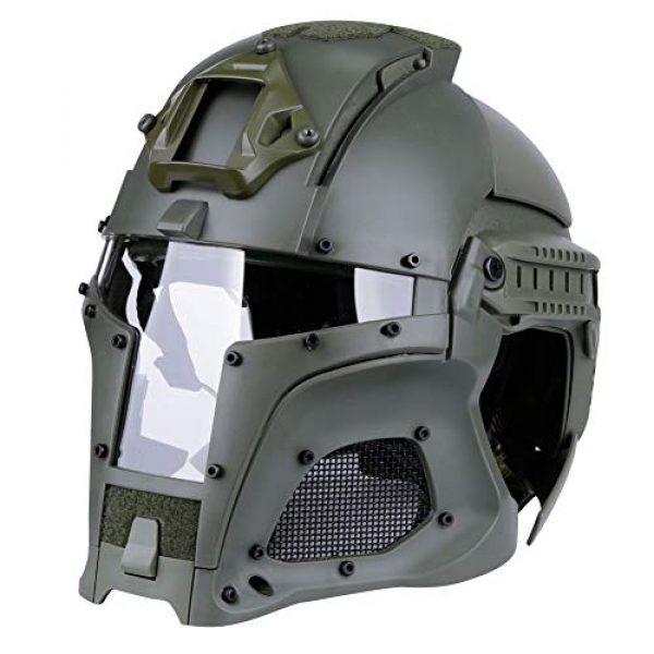 Brave outdoor Airsoft Helmet 3 Tactical Helmet Protection Fast Helmet Full Face Mesh Goggles for Airgun Paintball Mask CS Outdoor Activities Military Movie