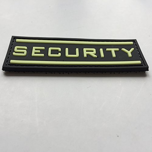 uuKen Airsoft Patch 3 Security Glow in The Dark 3D PVC Rubber Tactical Uniform Patch Airsoft with Hook Fastner by uuKen Tactical Gear