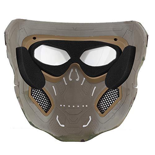 NINAT Airsoft Mask 4 NINAT Airsoft Masks Full Face Skull Tactical Mask with PC Lens Eye Protection for CS Survival Games BBS Gun Shooting Halloween Cosplay Movie Props Scary Masks