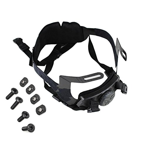 Jadedragon Airsoft Helmet 1 Jadedragon Fast Airsoft Helmet Standard Replacement Accessory Tactical Helmet Head Locking Buckle System Adjust Chin Strap with 4 Pieces Bolts/Screws for MH PJ BJ and Modified Tactical Helmet