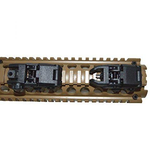 HWZ Airsoft Gun Sight 4 HWZ Tactical Folding Front & Rear Set Flip Up Backup Sights BUIS Black