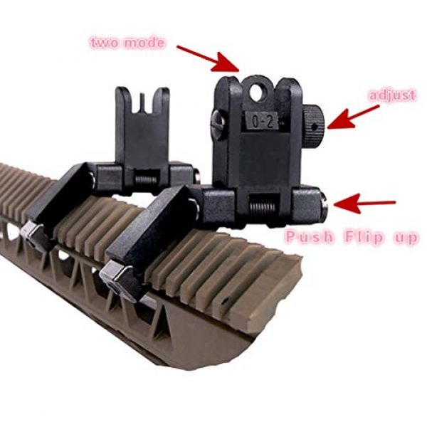 IORMAN Airsoft Gun Sight 2 IORMAN Ultralight Flip Up Sight 45 Degree Offset Rapid Transition Front and Backup Rear Sight