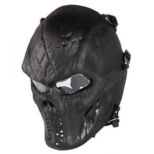 NINAT Airsoft Mask 1 NINAT Airsoft Skull Mask Full Face Tactical Masks Eye Protection for CS Survival Games Airsoft Shooting Halloween Cosplay Movie Scary Masks Bones Black Silvergrey Wildfire Captain