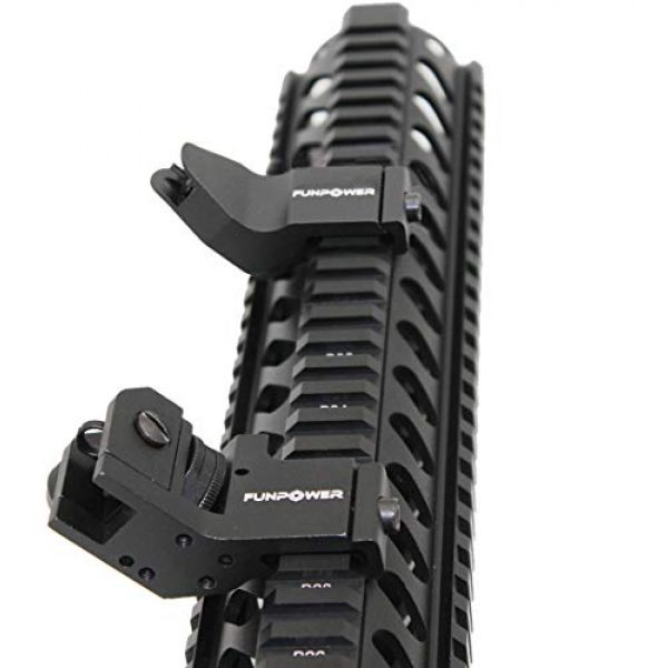 Funpower Airsoft Gun Sight 4 Funpower 45 Degree Offset Front and Rear Backup Iron Picatinny Sight Set