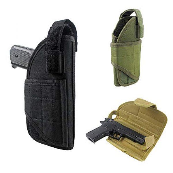 LIVIQILY  4 LIVIQILY Tactical Vertical Belt Mount Handgun Holster Belt Universal MOLLE Pistol Holster Right Hand Gun Holder