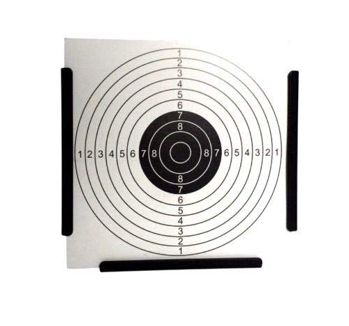 A&N Airsoft Target 2 A&N 14cm Funnel Shooting Target Holder Pellet Trap & 200 Paper Target for Air Rifle Airsoft