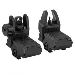 GVN Airsoft Gun Sight 1 GVN Flip up Battle Iron Sights Front and Rear Sights For Picatinny Rail