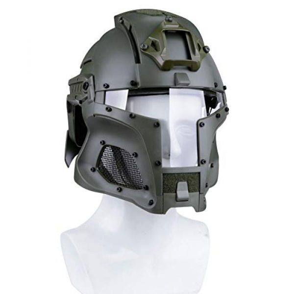 Brave outdoor Airsoft Helmet 7 Tactical Helmet Protection Fast Helmet Full Face Mesh Goggles for Airgun Paintball Mask CS Outdoor Activities Military Movie