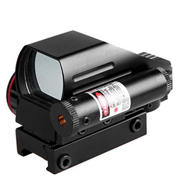 Sniper Airsoft Gun Sight 5 Sniper RD22LR Holographic Reflex Sight with 4 Reticles Red and Green Dot with Red Laser