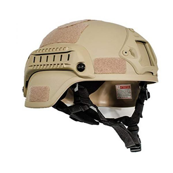 iMeshbean Airsoft Helmet 3 iMeshbean MICH 2000 Style ACH Tactical Helmet with NVG Mount and Side Rail Adjustable Sponge Padding Adjustable Suspender Straps