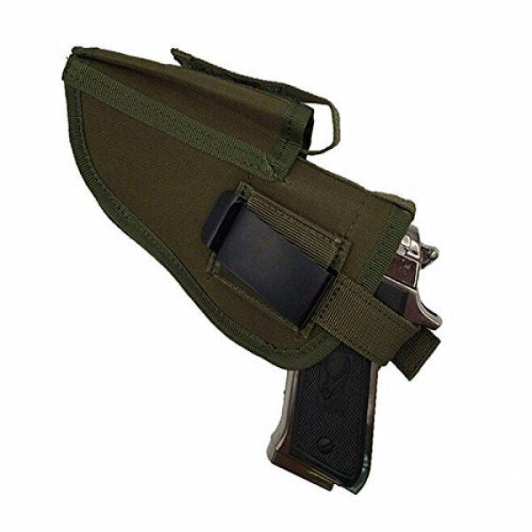 FIRECLUB  1 FIRECLUB Tactical Waistband Nylon Black Holster Waist Belt Handgun Right Hand Left Hand Interchangeable Gun Holster for Medium Compact Subcompact Hand Guns with Magazine Slot