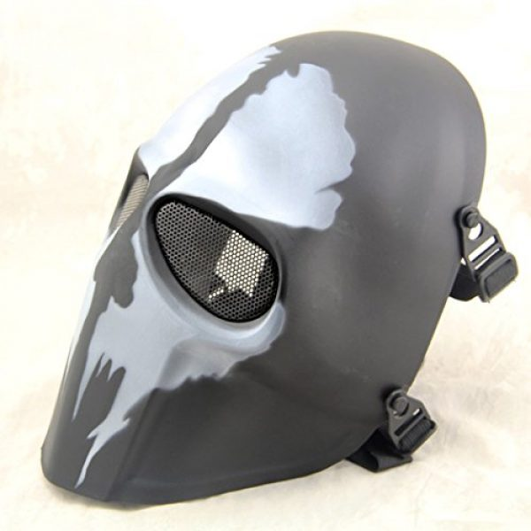 Outgeek Airsoft Mask 5 Outgeek Airsoft Mask Full Face Protective Mesh Mask Skull Mask for Costume