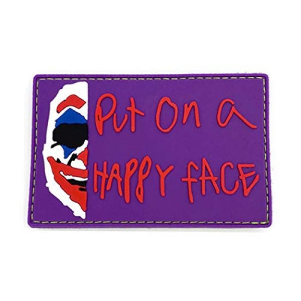Bitway Tactical Airsoft Morale Patch 1 Bitway Tactical Joker Put on a Happy Face PVC Hook-Backed Morale Patch