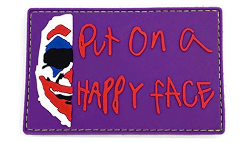 Bitway Tactical Airsoft Patch 1 Bitway Tactical Joker Put on a Happy Face PVC Hook-Backed Morale Patch
