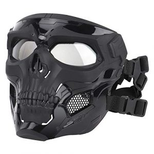 ATAIRSOFT Airsoft Mask 1 ATAIRSOFT Tactical Protective Adjustable Skull Full Face Mask for Airsoft Paintball Cosplay Costume Party Hockey